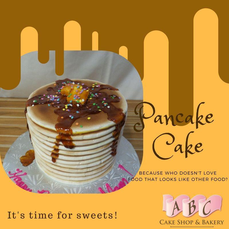 Awesome pancake birthday cake welovepancakes
