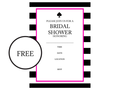 Free Printable Kate Spade Inspired Bridal Shower Invitation