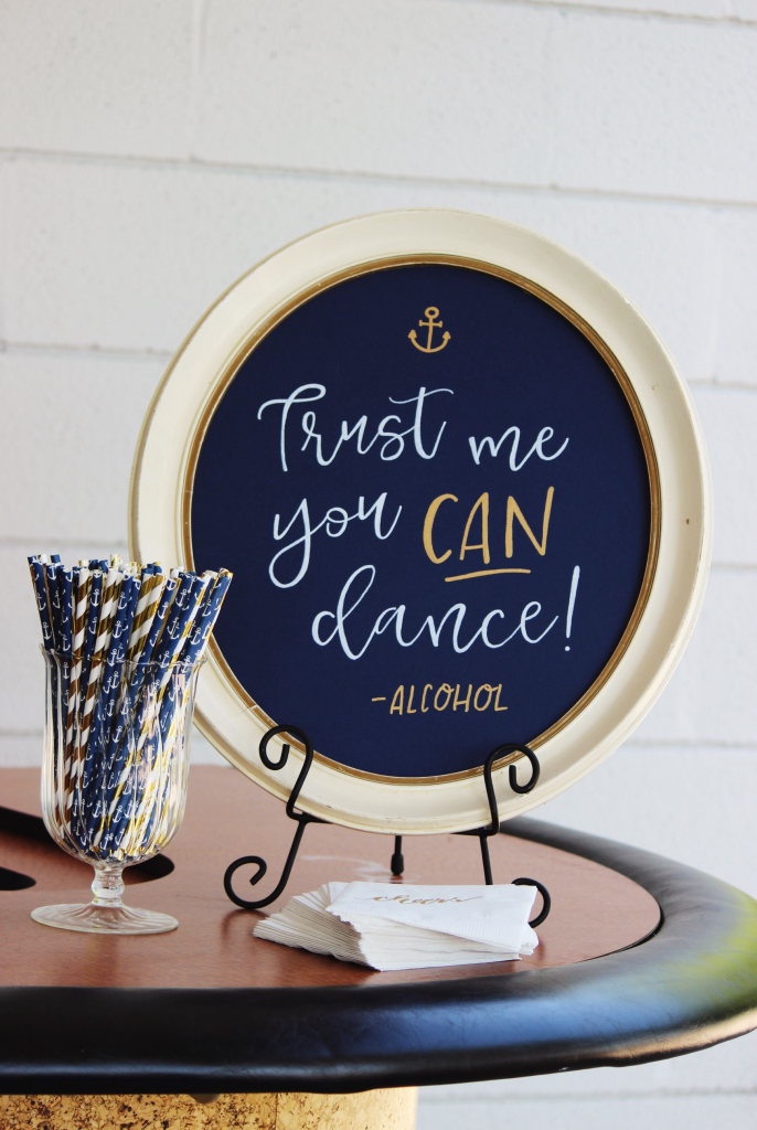 trust me you can dance - alcohol | I DO Signs | White Dress Events