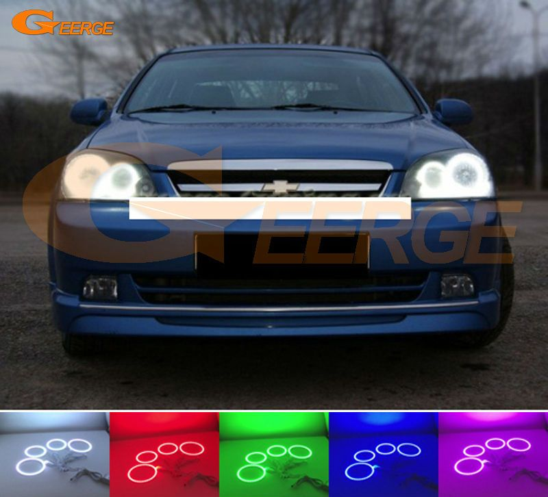 For Chevrolet Lacetti Optra Nubira 2002 2008 Excellent Angel Eyes Kit Multi Color Ultra Bright Rgb Led Angel Eyes Halo Rings Car Sports Car Car Lights