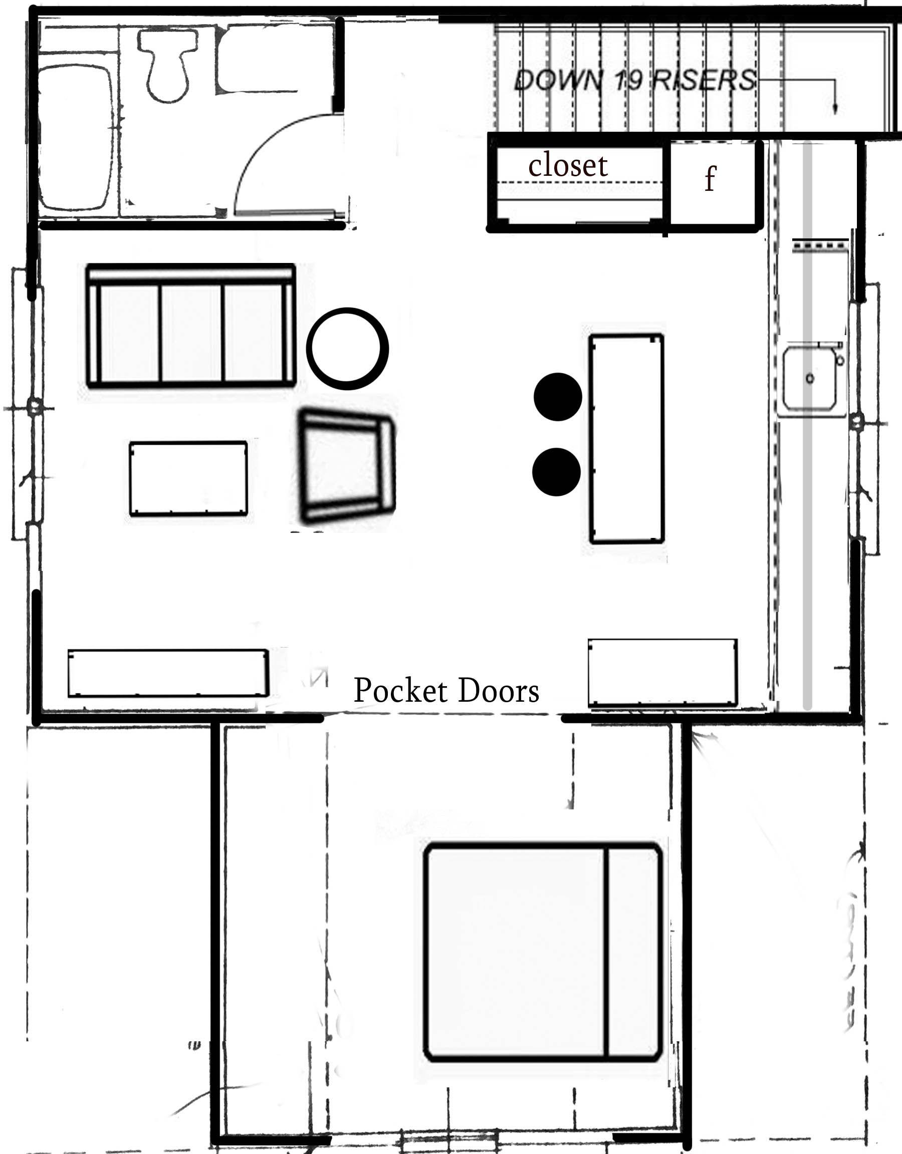 Pin by Susan Fox on Apartment | Pocket doors, Floor plans ...