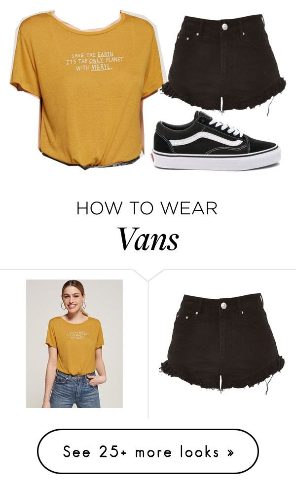 """""""Untitled #1618"""" by chaoticaphrodite on Polyvore featuring Vans and Topshop"""
