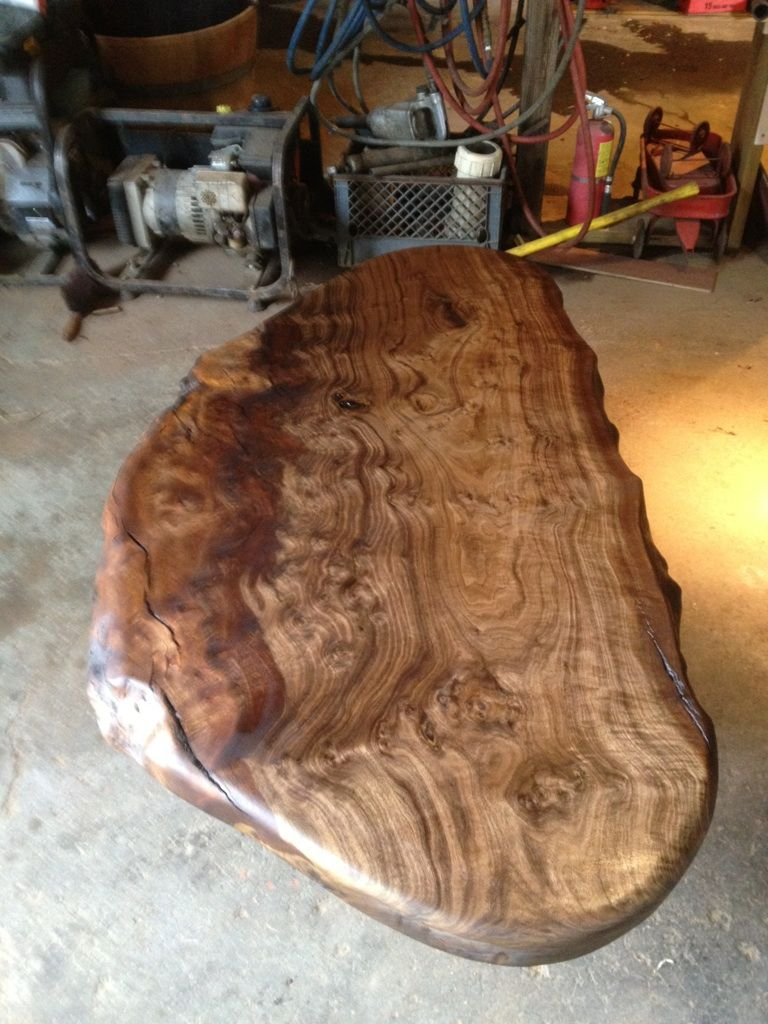 My Black Walnut Burl Coffee Table Being Made Turned Out