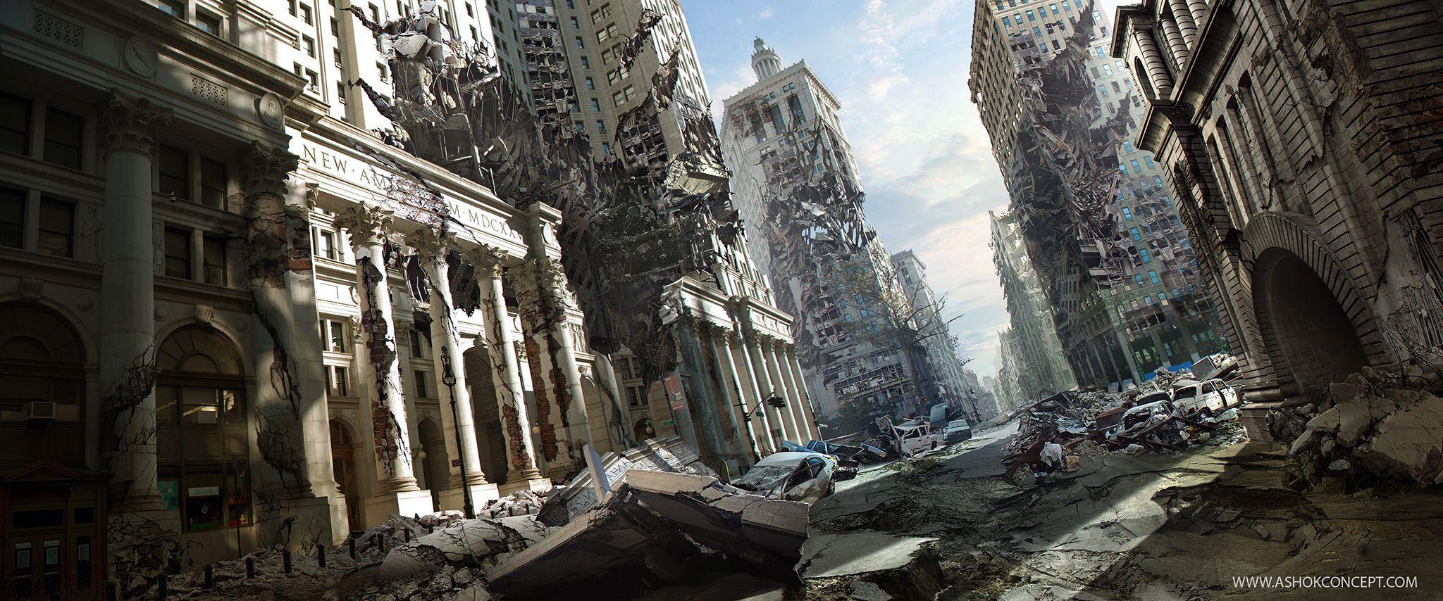Age of Destruction by ASHOK KUMAR DASS | Matte Painting | 2D | CGSociety