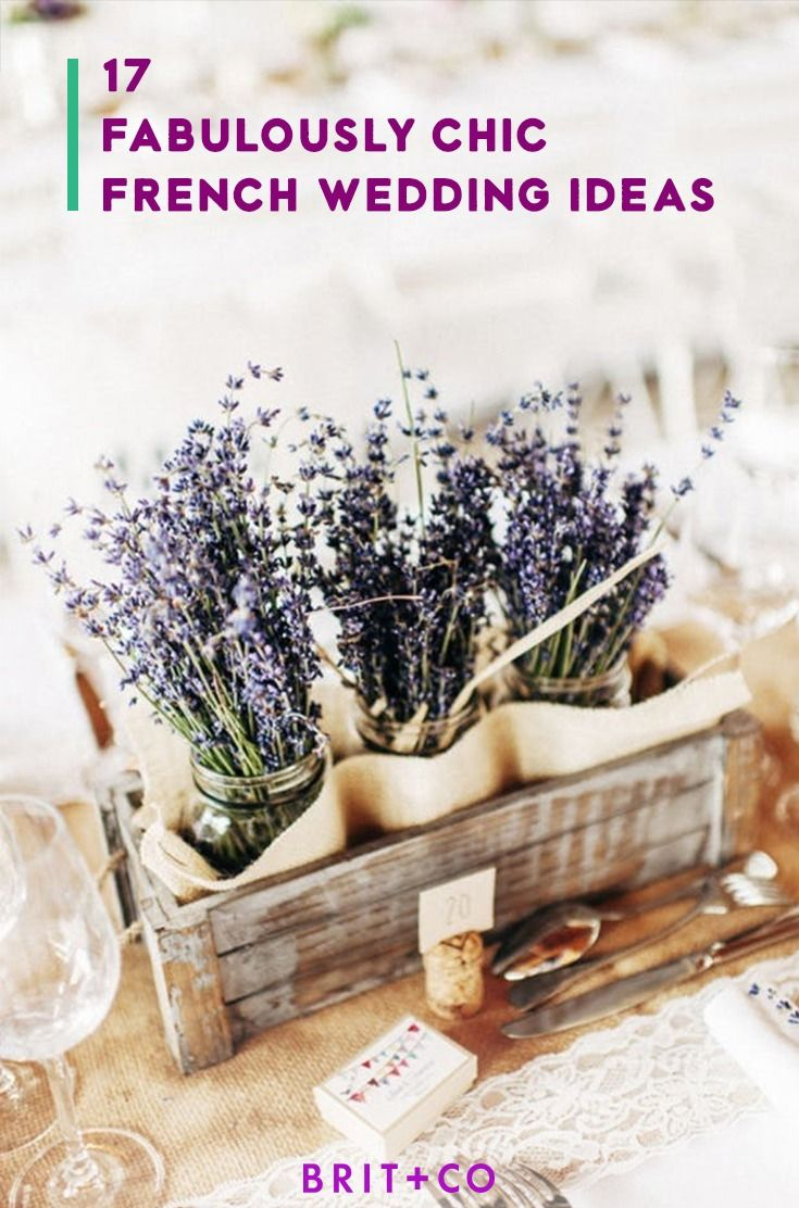 Lavender themed wedding decor  Save this for  inspiring french wedding ideas  Wedding from Brit