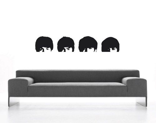 BEATLES Wall Decals Hard Days Night John Lennon Ringo George Paul | MollsDesigns - Housewares on  sc 1 st  Pinterest : beatles wall decals - www.pureclipart.com