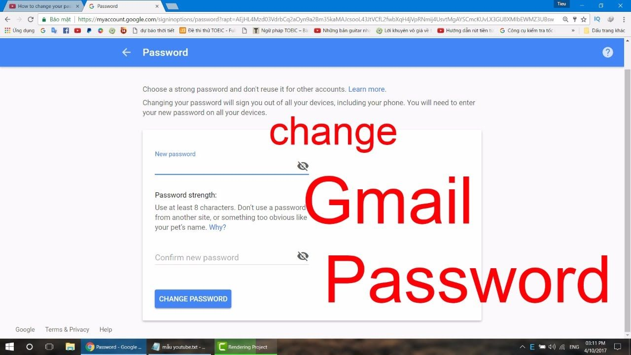 Gmail Password Change In 2021 You Changed Passwords Gmail