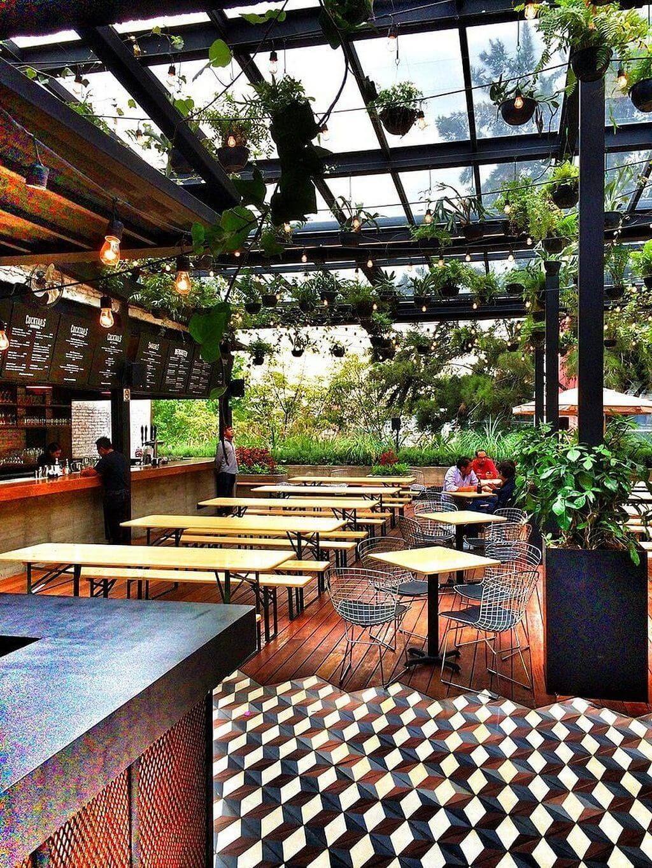 15 Garden Restaurant Design Ideas With Interior Look Cafe Bar