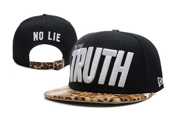 Im The Truth Leopard Snapback Hats