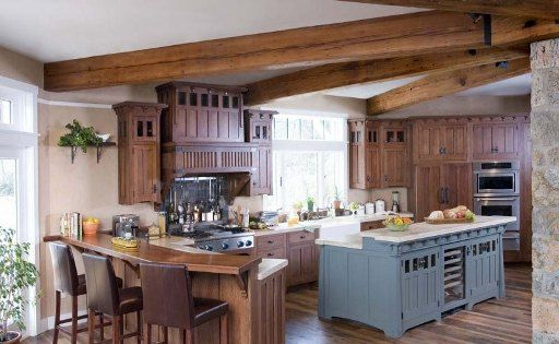 Simple Traditional Mission Style Kitchen Cabinets Design ...