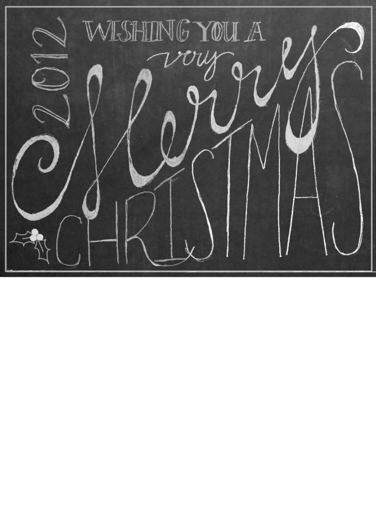 Our Christmas Card for 2012{and a Free Template!}   Chalkboards ...