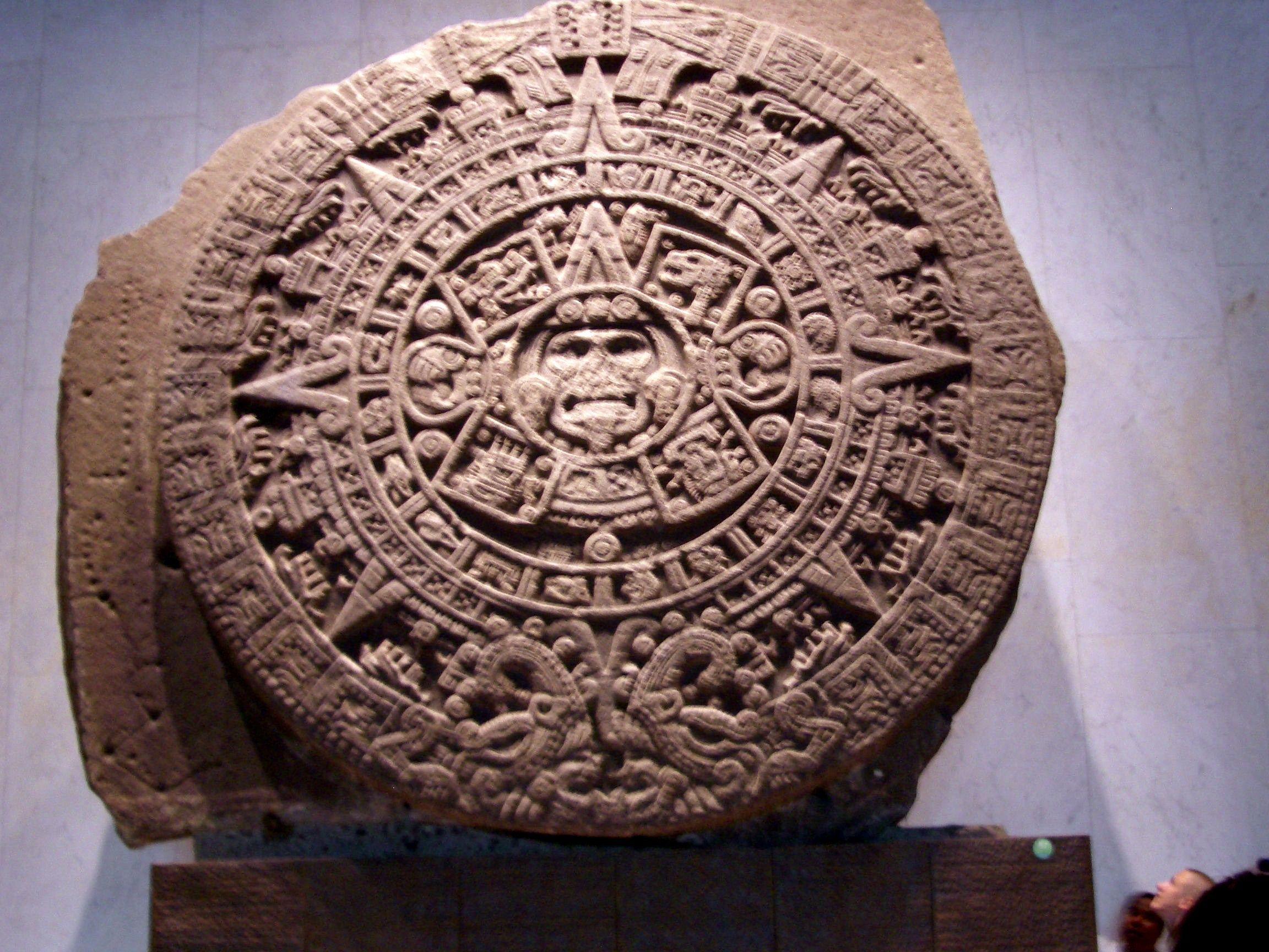 Maya-Kalender im Museum von Mexico-City