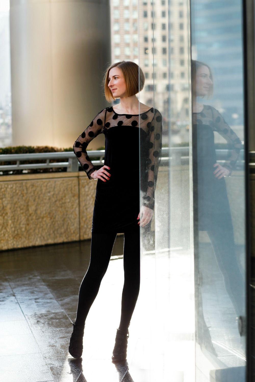 Engineering In Style - BCBGmaxazaria Polka Dot Little Black Dress ...