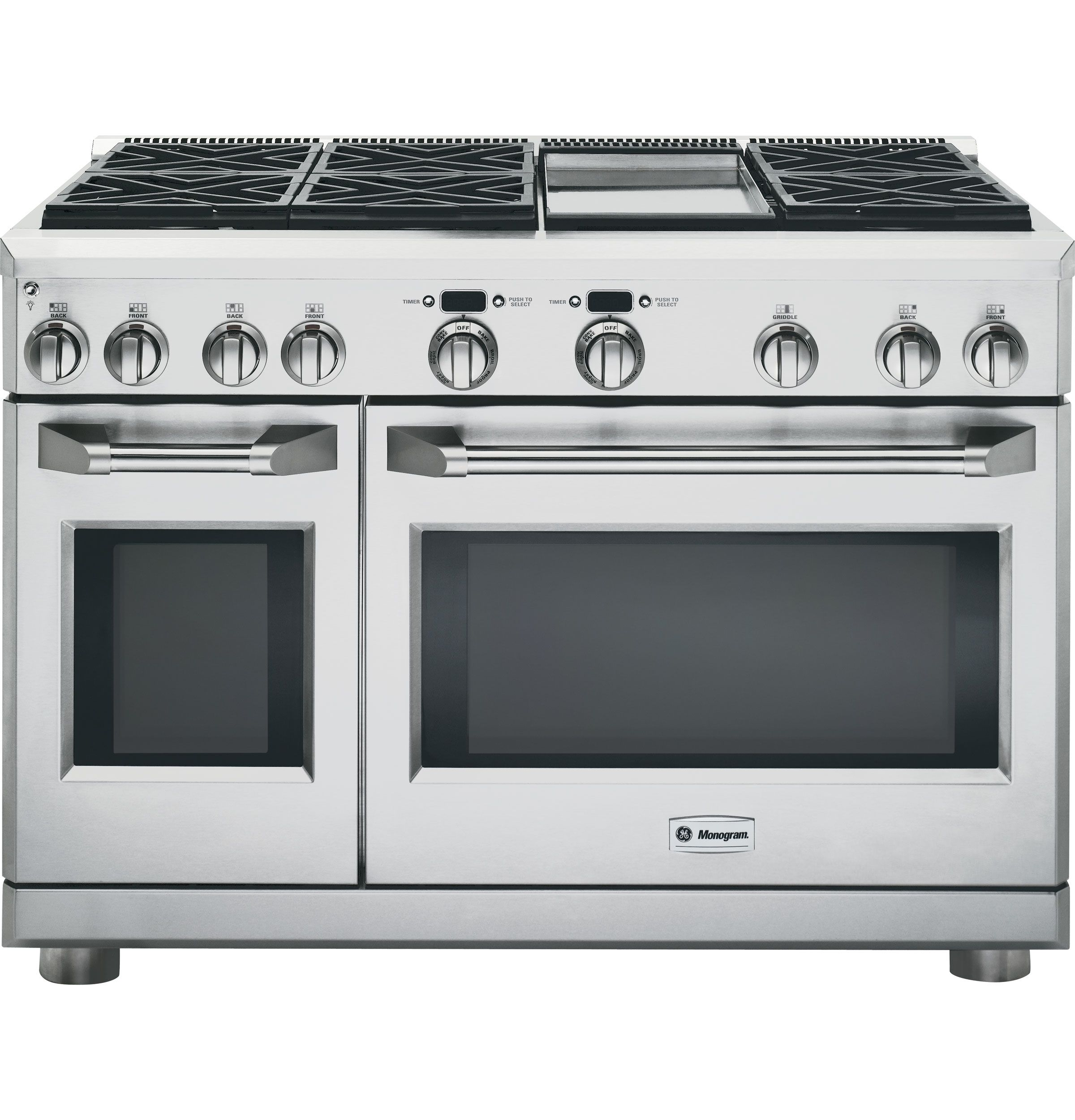 Contemporary range from wolf model 4 burners griddle - 48 Stainless Steel Dual Fuel Gas Sealed Burner Double Oven Range Convection
