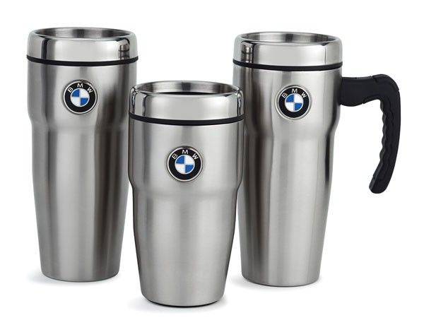 Genuine BMW Roundel Insulated Travel Mug: 80-90-2-244-589-PARENT | unitedBMWonline.com