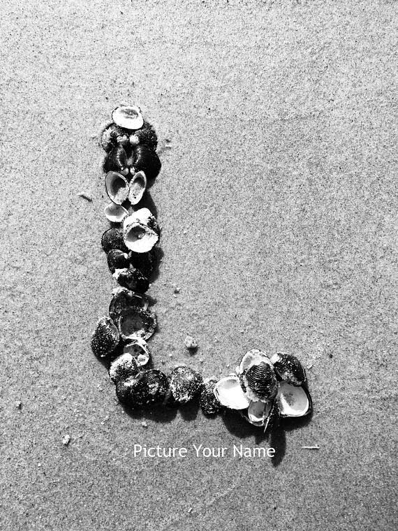 Ocean Theme Beach Letter L Photo Alphabet Photography