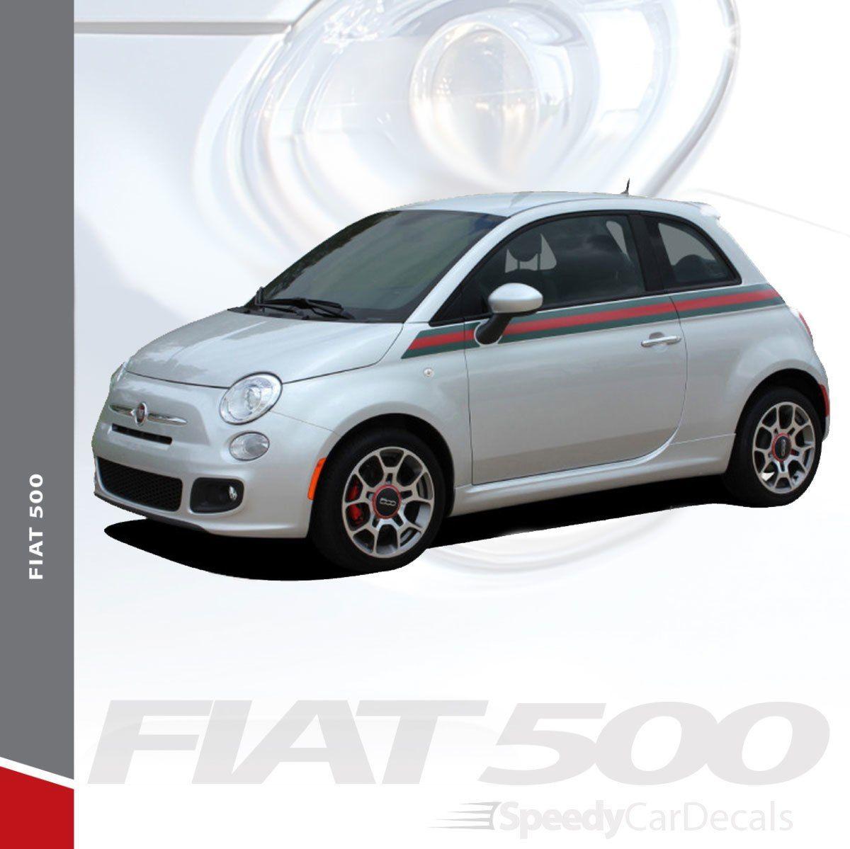 Fiat 500 Gucci Stripe Graphics 2012 2013 2014 2015 2016 2017 2018 2019 Premium Auto Striping Fiat 500 Vinyl Graphics Stripe Kit [ 1199 x 1200 Pixel ]