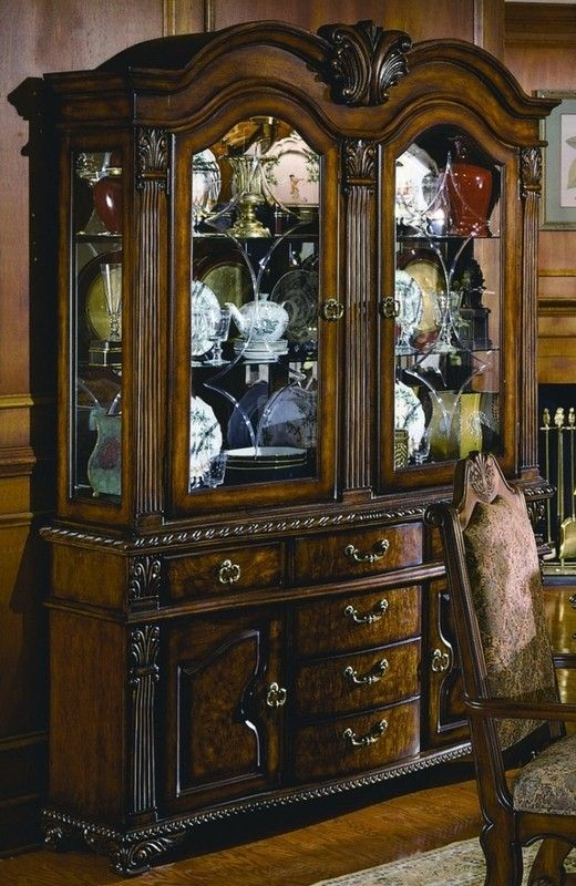 Amazing Living Room Cabinet Designs Antique Showcase Using: Neo Renaissance Elegant Traditional China Cabinet In