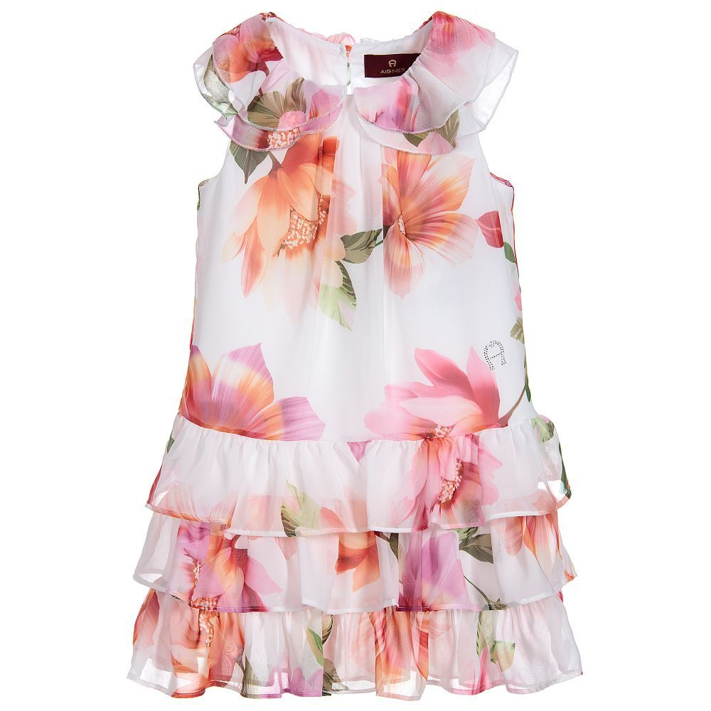 74b927fc7 Aigner Kids Girls Floral Chiffon Dress | DRESSES FOR GIRLS | Floral ...
