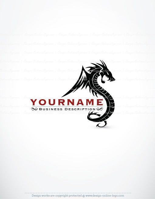 exclusive design dragon logo compatible free business card art
