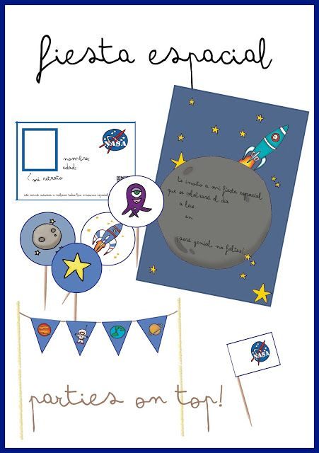 SPACE PARTY FREE PRINTABLES - IMPRIMIBLES GRATUITOS PARA UNA FIESTA ...