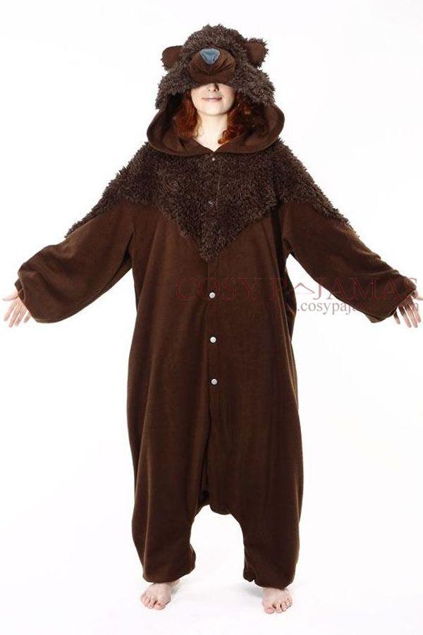 Adult Animal Onesie Brown Bear Onesie Kigurumi Costume-reminds me of Brave! e981b2cc199a
