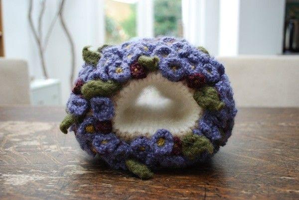 💐Padrões sopro Crochê tricô abelha pequena mão violeta -  /  💐Blowing patterns Crochet knitting violet small hand bee -