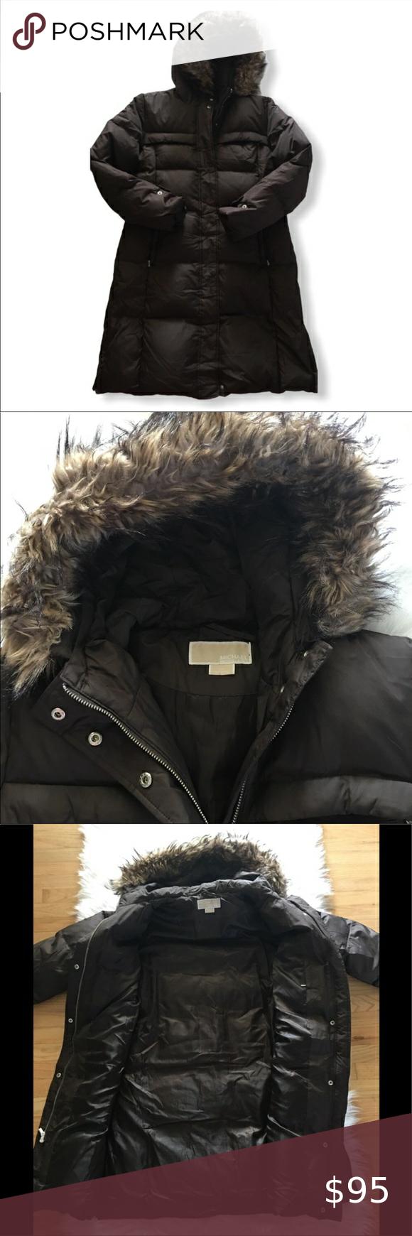 Michael Kors Espresso Puffy Trench Coat Size Large Trench Coat Michael Kors Jackets Michael Kors [ 1740 x 580 Pixel ]