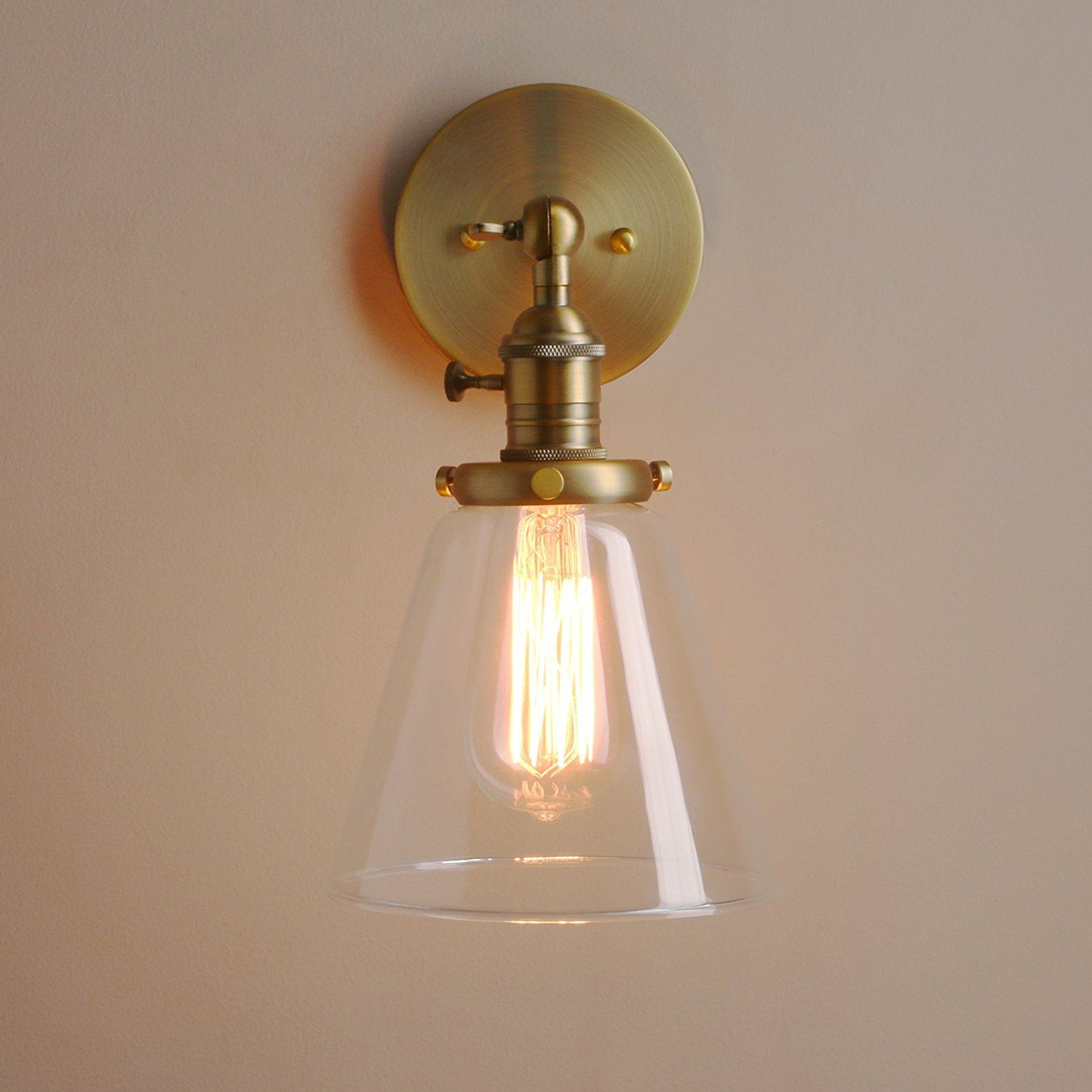 Permo Industrial Wall Sconce Lighting with On/Off Switch ...