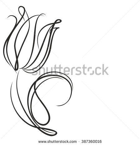tulip line drawing google search chris 39 stuff pinterest tatuajes delineados y abuelas. Black Bedroom Furniture Sets. Home Design Ideas