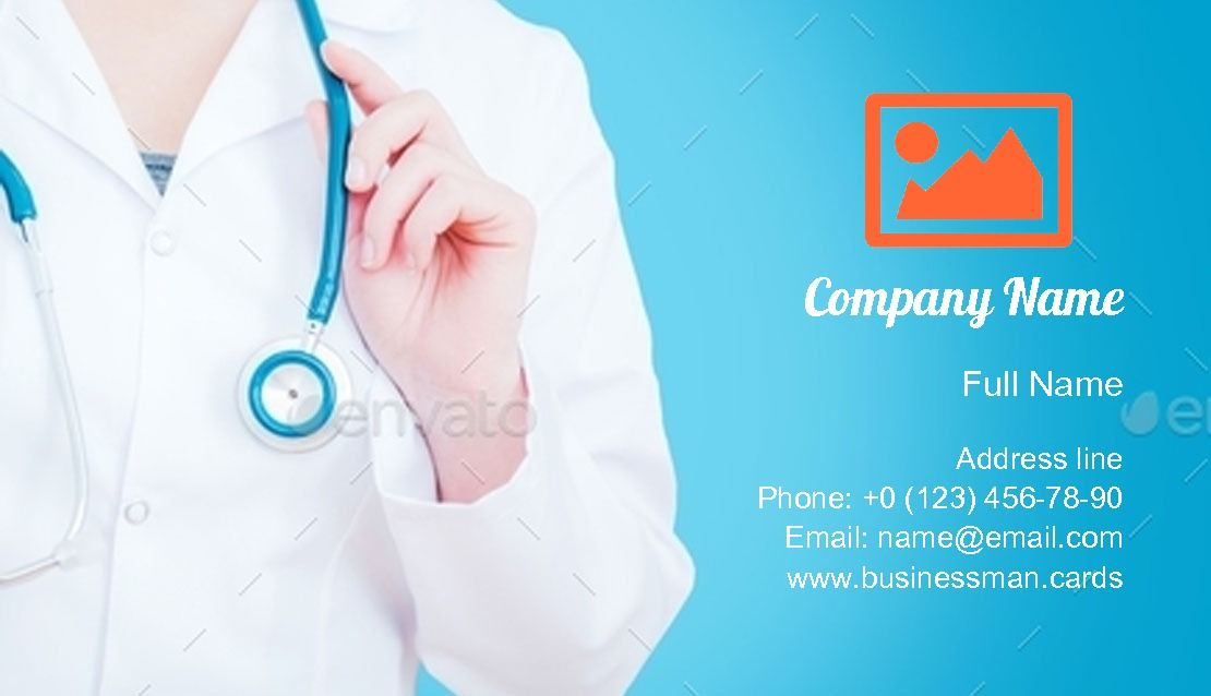 Medical Female Doctor Business Card Template Doctor Business Cards Medical Business Card Business Card Template