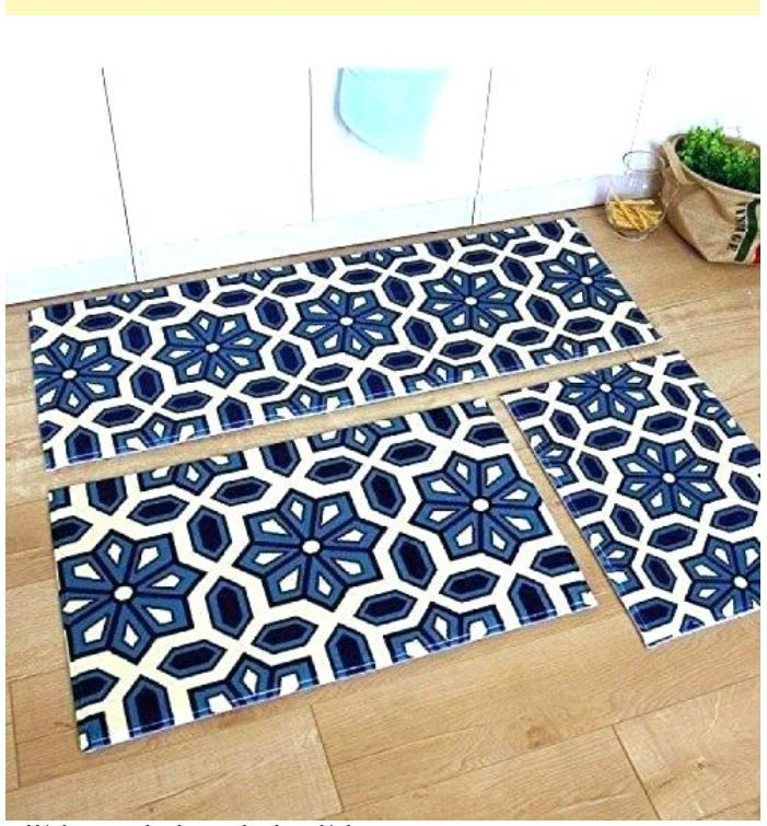 Blue And White Kitchen Rug Hominess Pinterest Grey Kitchens
