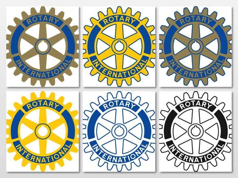 36bea9e4cb7 Here are all the approved versions of Rotary International s wheel logo.