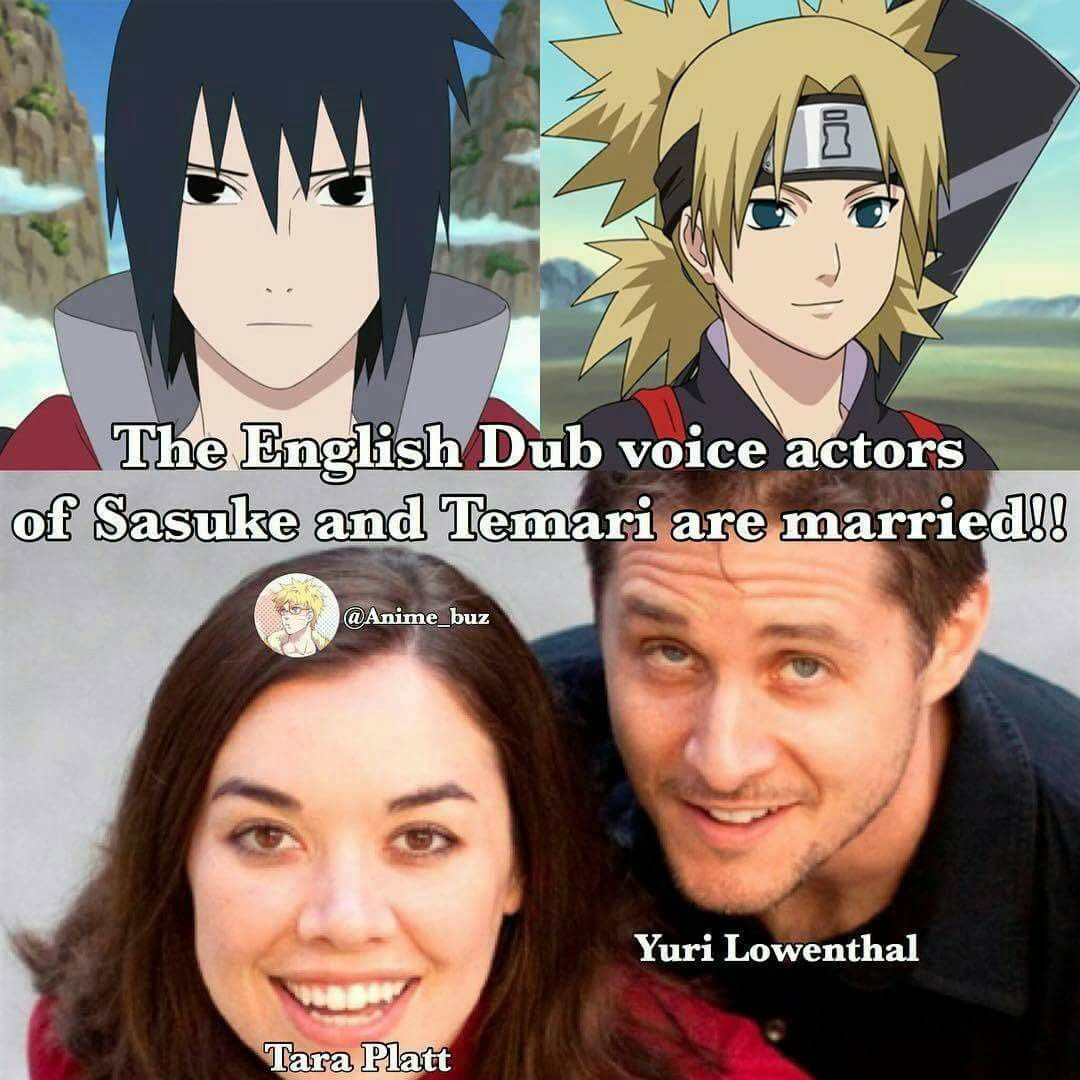 The voice actors of Sasuke and Temari are actualpy married