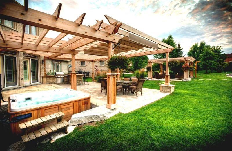 19 Backyards with Amazing Landscaping Pergola, Backyard