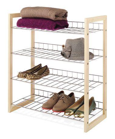 Loving This Natural Wood U0026 Chrome Closet Shelf On #zulily! #zulilyfinds