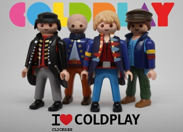 My life is now complete: Playmobil Coldplay figures!!! Hahahahahaha