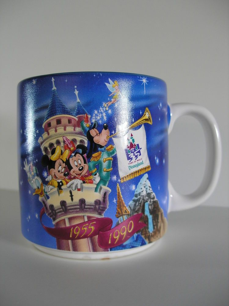 Mug 1990 Disneyland 35th Celebration 1955 Anniversary Donald Cup IE2YDHW9