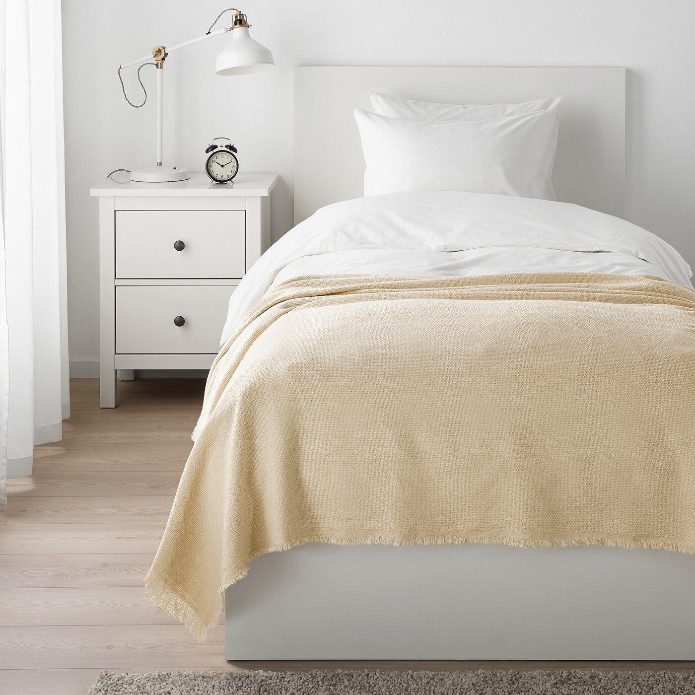 Ikea Tjarblomster Bedspread Gray Ikea In 2019 Bed Spreads