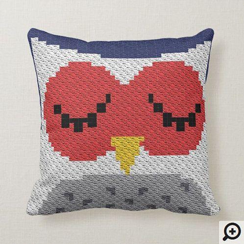 C2C Owl Pattern / C2C Pillow / Animal Pillow Case