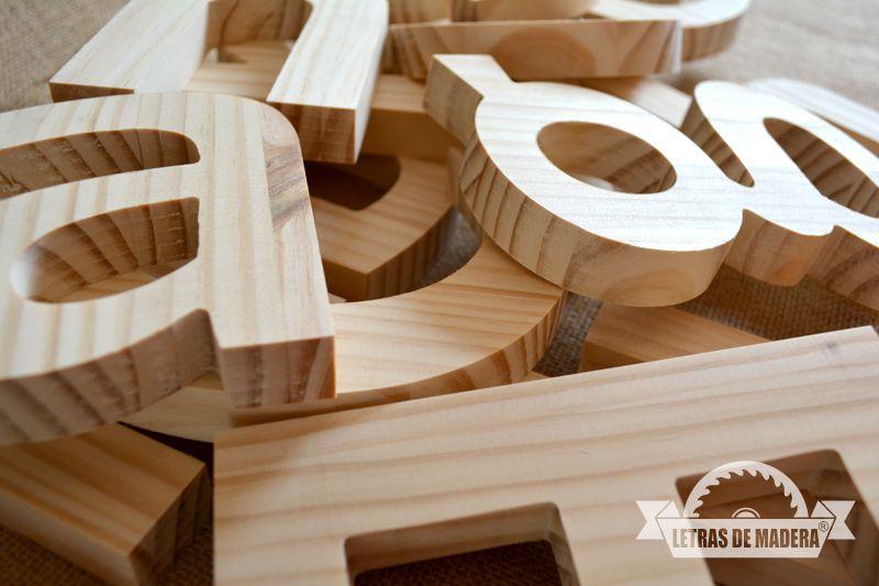 Letreros en madera natural letras de madera empresas - Letreros en madera ...