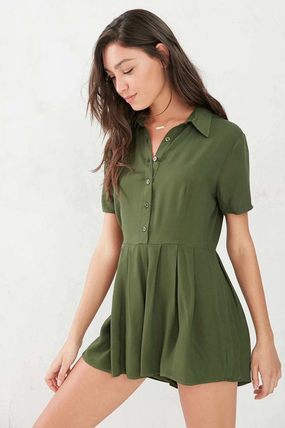 125b3fe763 Cooperative Button-Front Shirt Romper