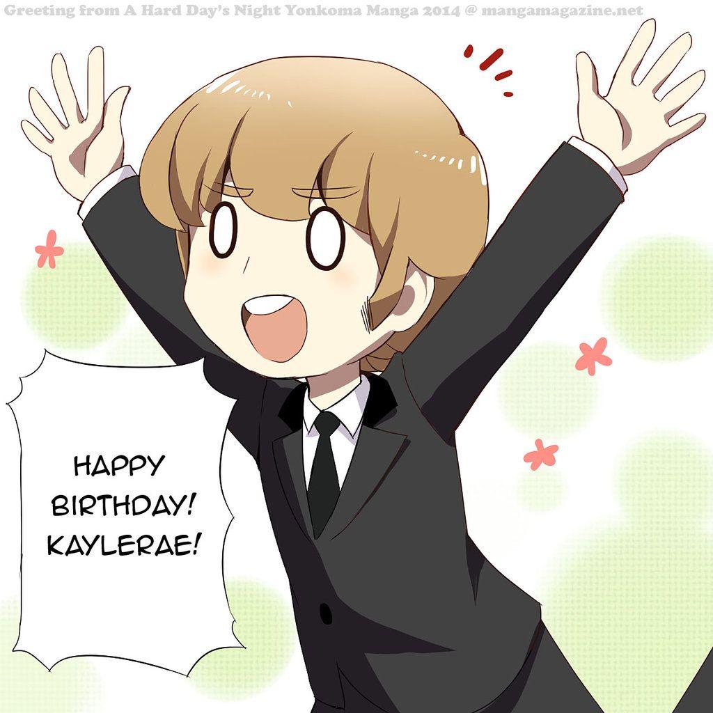 Devientart The Beatles Anime Birthday Greeting By Radical