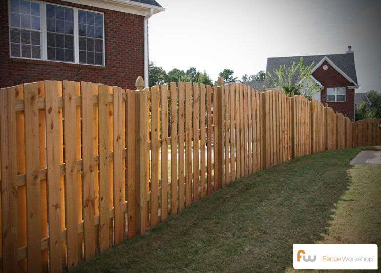 Arched Shadowbox Wood Privacy Fence With French Gothic Posts Wood Privacy Fence Privacy Fence Designs Fence Design