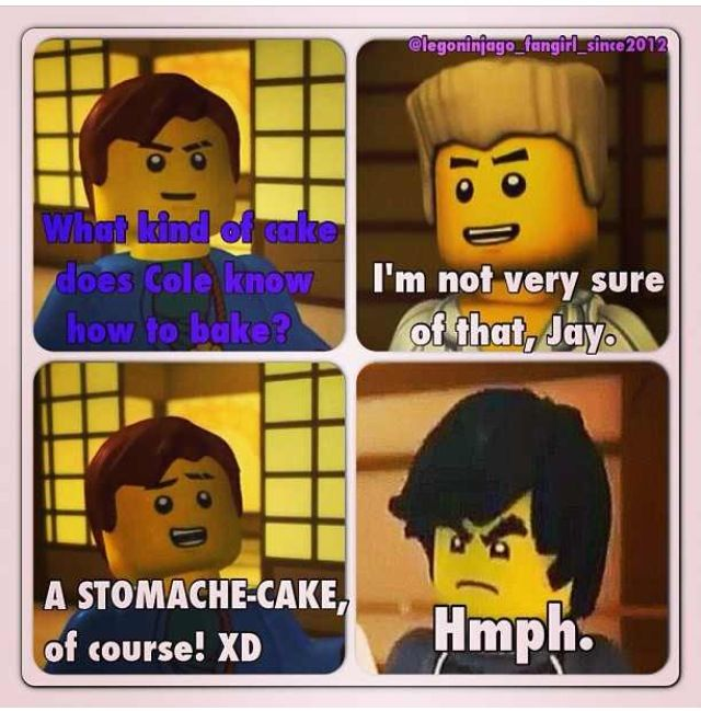 Lol They Always Said Coles Cooking Was The Worst Note To Self Never Eat Any Of Cole S Cooking Ninjago Memes Lego Ninjago Ninjago