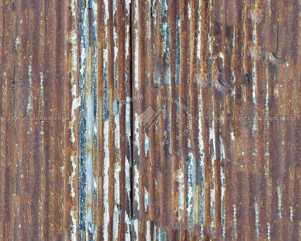 0070 Iron Corrugated Dirt Rusty Metal Texture Seamless
