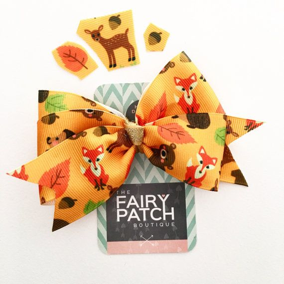 Thanksgiving hair bow Fall hair bow autumn by fairypatchboutique