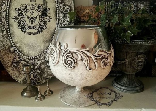 ?????????? Iron Orchid Designs Plaster Art Hot Glue Art Decoupage Glass Christmas Lanterns Altered Bottles Clay Ornaments Pottery Studio Vintage Crafts #diypottery #diy #pottery #studio