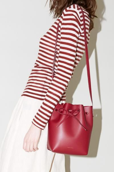 Mansur Gavriel Mini Bucket Bag in Rococo Calf