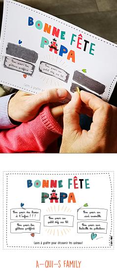 Fabriquer une carte à gratter pour la fête des pères